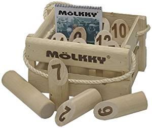 Mölkky, jeu en prêt sur la maison en location