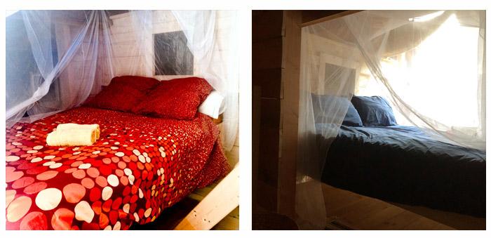 chambre en alcove sous la mezzanine